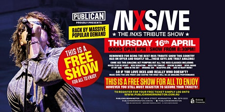 FREE SHOW - INXSIVE live at Publican, Mornington! tickets