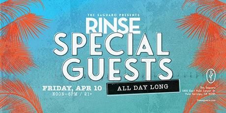 The Saguaro Palm Springs presents RINSE : Special Guests All Day tickets