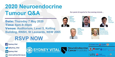 2020 Neuroendocrine Tumour Q&A Session tickets