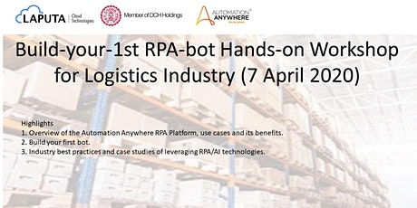 """Build-your-1st RPA-bot"" Webinar for Logistics Industry tickets"