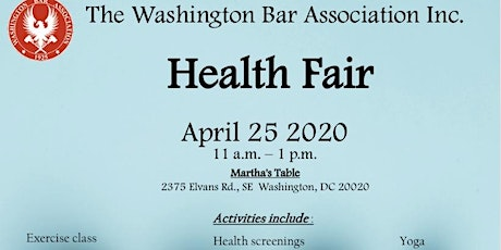 Washington Bar Association Community Health Fair tickets