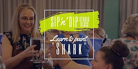 SIP N DIP STUDIO - Sip 'n' learn to paint 'Shark'! tickets