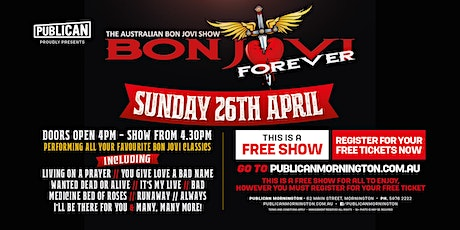 The Aus Bon Jovi Show - Bon Jovi Forever LIVE at Publican, Mornington! tickets
