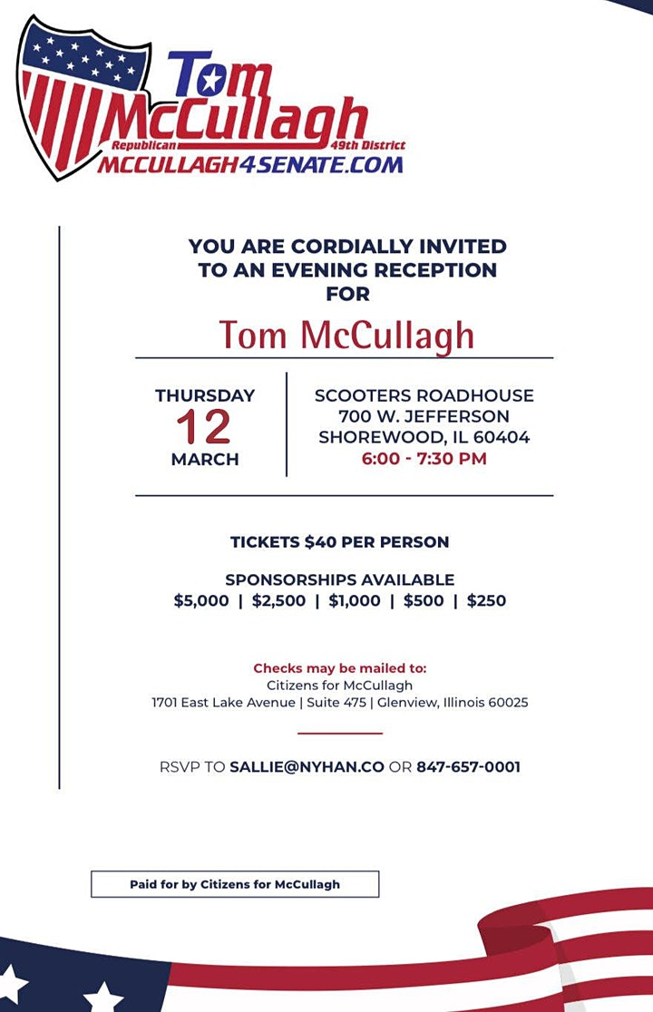Kickoff for Tom Mccullagh For Senate image