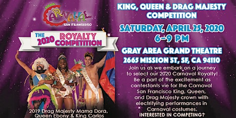 [Postponed] 2020 Carnaval SF Royalty Competition tickets