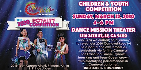 [Postponed] 2020 Carnaval SF Children & Youth Royalty Competition tickets