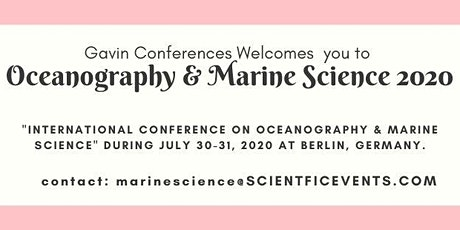 International Conference On Oceanography & Marine Science Tickets