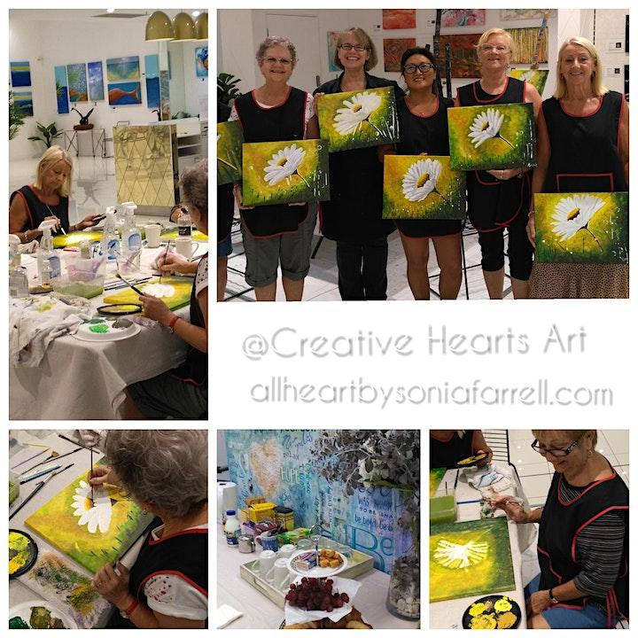 'Daisy Mist' Art Experience with Sonia Farrell: Creative Hearts Art image