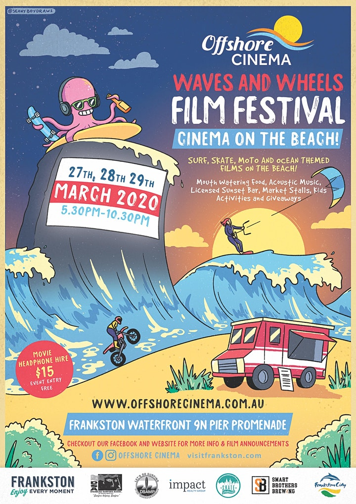 Waves and Wheels Film Festival a Beach Cinema Event image