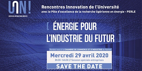 Rencontres Innovation de l'Université [Energie pour l'industrie du futur] billets