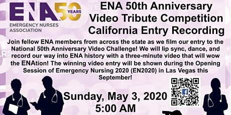ENA 50th Anniversary Video Challenge Filming tickets