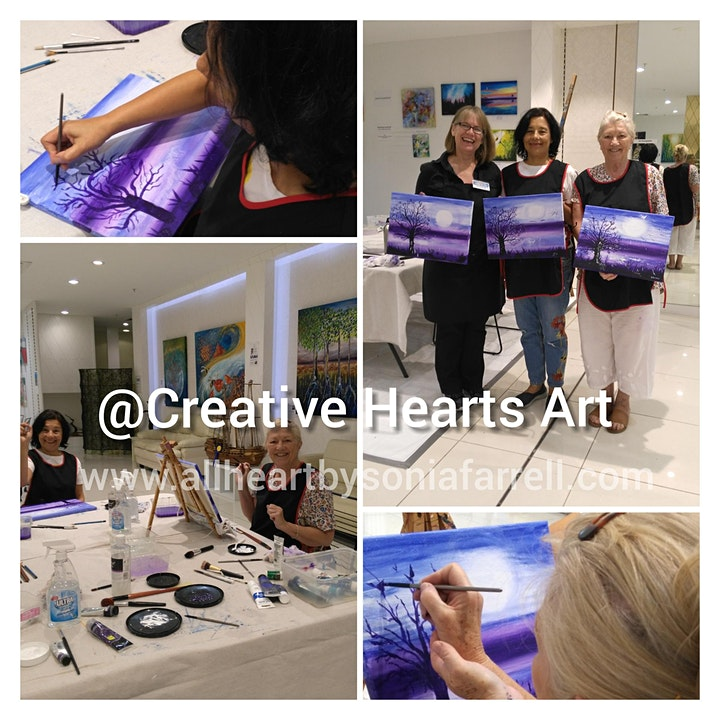 'Morning Moments' Art Experience with Sonia Farrell: Creative Hearts Art image