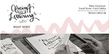Oficina de Lettering para Iniciantes - Por Fernanda Chaves entradas