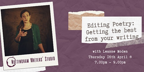 Editing Poetry: Getting the best from your writing *ONLINE WORKSHOP* tickets