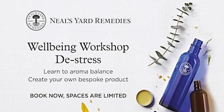 Neal's Yard Remedies Wellbeing Workshop: De-stress tickets