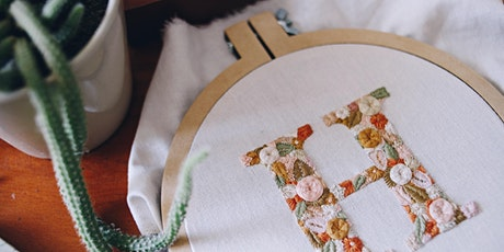 Taller de bordado botánico - Edición letra floral entradas