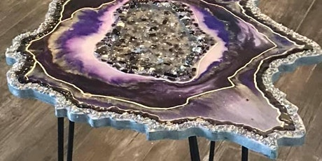 Make Your Own Epoxy Resin Geode Table Workshop Instruction tickets