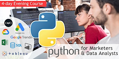 Python for Digital Marketers and Data Analysts [4-day evening course] tickets