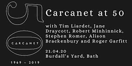 Carcanet at 50: Burdall's Yard, Bath tickets