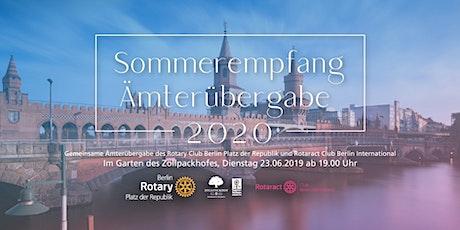 Sommerempfang und Ämterübergabe RC BPdR und RAC BI Tickets