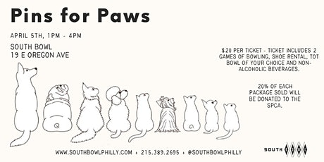 Pins For Paws with the PSPCA tickets