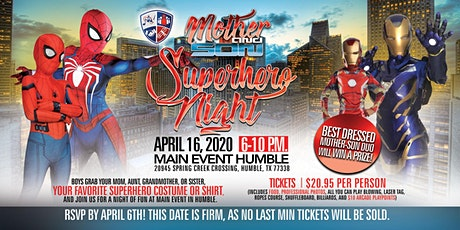 Mother & Son Superhero Fun Night tickets