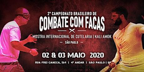 2° Campeonato Brasileiro de Combate Esportivo com Facas ingressos