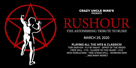 Rushour Tribute to Rush Live at Crazy Uncle Mike's tickets