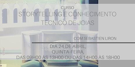 Storytelling e Conhecimento Técnico em Joias [Turma 2: 24 de Abril] ingressos