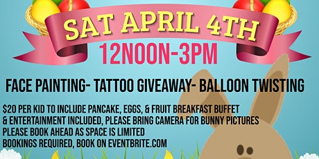 Easter Pancake Party with Bunny tickets