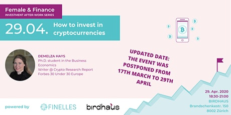 Female & Finance #6 - How to invest in cryptocurrencies tickets
