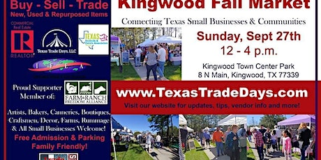 September Kingwood Market | Texas Trade Days tickets