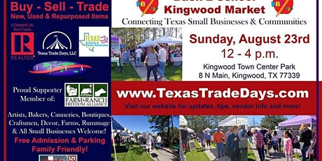 August Kingwood Market | Texas Trade Days tickets