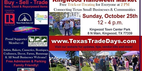 Kingwood Halloween Market | Texas Trade Days tickets