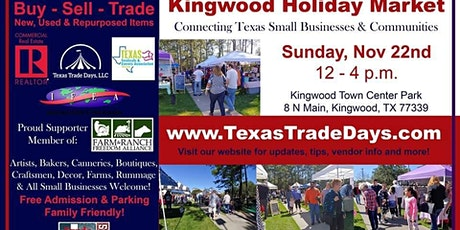 Kingwood Holiday Market | Texas Trade Days tickets