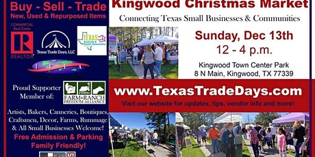 Kingwood Christmas Market | Texas Trade Days tickets