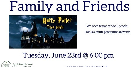 Virtual Family and Friends Harry Potter Trivia Night tickets