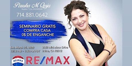 SEMINARIO *GRATIS * COMPRA CASA CON 0$ DE ENGANCHE tickets