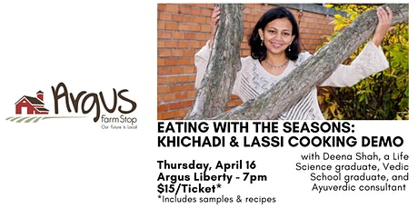 Eating with the Seasons: Khichadi & Lassi Cooking Demo tickets
