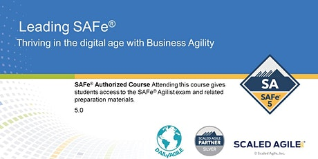 VIRTUAL! Leading SAFe 5.0 Certification Training tickets
