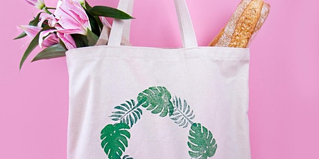 Fabric Block Printing - Design a Tote Bag! tickets