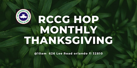 RCCG HOP MONTHLY THANKSGIVING tickets