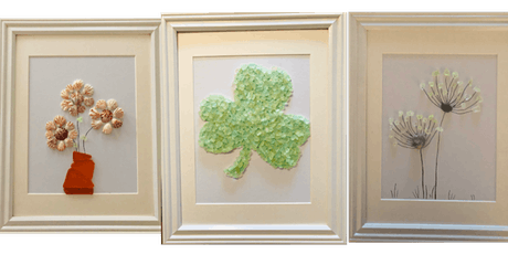 Sea Glass Collage Craft Night includes all supplies and frame. Fun Night! tickets