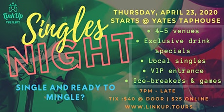 19-50? Single and ready to mingle YYJ? | Singles Night YYJ by LinkUp Tours tickets