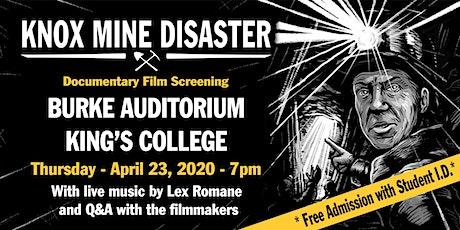 Knox Mine Disaster Documentary Film Screening with Lex Romane tickets