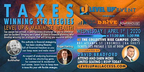 WINNING Tax Strategies for Investors and Realtor Estate Agents at Level Up Atlanta tickets
