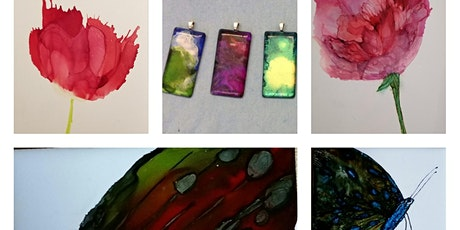 "Alcohol Ink Workshop ""Butterfly & Spring Blooms"" tickets"