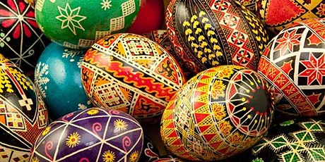 Pysanka: Ukrainian style Easter egg in a hot wax resistant technique. tickets
