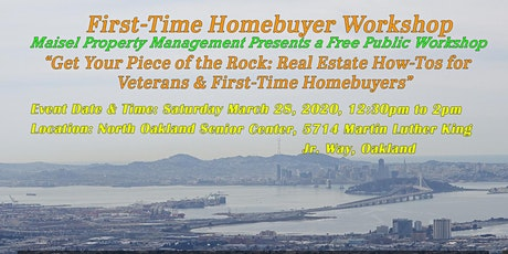 Get Your Piece of the Rock: Real Estate How-Tos for Veterans & First-Time Homebuyers tickets