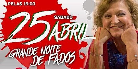Grande Noite De Fados com Fernanda Moreira - Jantar (Fado night with food). bilhetes